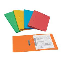 Elba Bright Transfer Spring File 320gsm Foolscap Assorted Ref 100090330 [Pack 10]