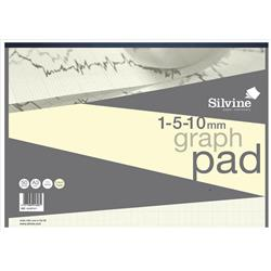 Silvine Designer Graph Pad 85gsm 1mm 5mm 10mm Grid 50 Sheets A3 Cream Wove Ref A3GPIVY + Free Competition