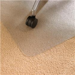 Floortex Chair Mat Polycarbonate Rectangular for Carpet Protection 1190x890mm Clear