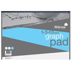 Silvine Student Graph Pad 90gsm 1mm 5mm 10mm Grid 30 Sheets A3 Ref A3GP1510 + Free Competition