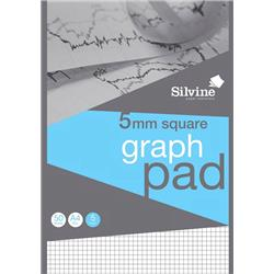 Silvine Student Graph Pad 90gsm 5mm Quadrille 50 Sheets A4 Ref A4GPX-10 [Pack 10] + Free Competition
