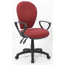 Solar II Wine Task Operator Chair Fabric With Loop Arms Ref KC0198