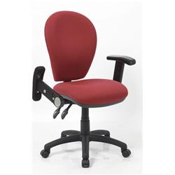 Solar II Wine Task Operator Chair Fabric With Folding And Height Adjustable Arms Ref KC0182