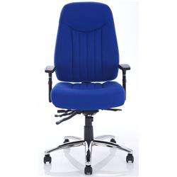 Barcelona Plus Task Operator Chair Blue Fabric With Arms Ref OP000183