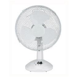 Image of 5 Star Desk Fan Oscillating Silent Non-tilt 2-Speed Cable 2m Dia.229mm