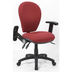 Solar III Wine Task Operator Chair Fabric With Folding and Height Adjustable Arms Ref KC0190