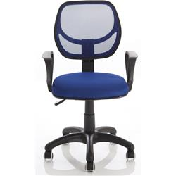 Meshlet Blue Mesh Task Operator Chair With Arms - EX000169.
