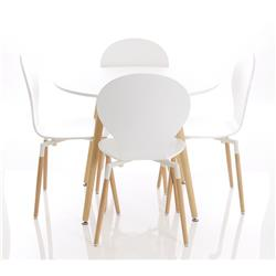 Parisian Round Table With Four Chairs Ref PNWHT