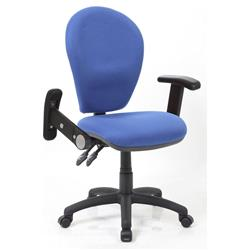 Solar II Blue Task Operator Chair Fabric With Folding And Height Adjustable Arms Ref KC0180