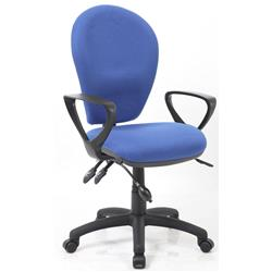 Solar III Posture Chair Fabric With Pump Lumbar Blue Fabric With Loop Arms Ref KC0208