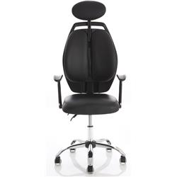 Breath Black Executive Chair With Arms - EX000173.