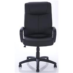 Precinct Executive Black Bonded Leather Chair With Arms - EX000180