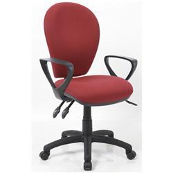 Solar III Wine Task Operator Chair Fabric With Loop Arms Ref KC0206