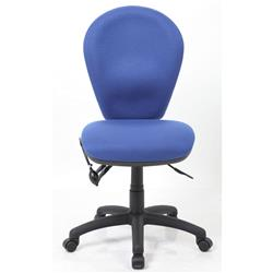 Solar II  Posture Chair Fabric With Pump Lumbar Blue Ref OP000196