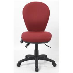 Solar II Posture Chair Fabric With Pump Lumbar Wine Ref OP000198