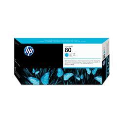 Hewlett Packard HP No. 80 Inkjet Printhead and Cleaner Cyan Ref C4821A