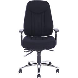 Barcelona Plus Task Operator Chair Black Fabric With Arms Ref OP000184
