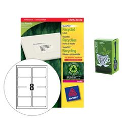 Avery Addressing Labels Recycled White [800 Labels] - FREE Clipper Organic Green Tea