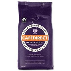 Cafedirect Medium Roast Fresh Ground Fairtrade Coffee 227g Ref A06728 - 3 for 2