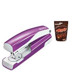 Leitz NeXXt WOW Stapler 3mm 30 Sheet Purple Ref 55021062 - FREE Rolos Pouch