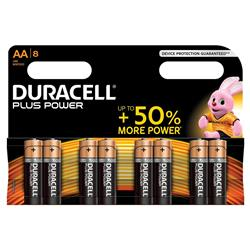 Duracell Plus Battery Alkaline 1.5V AA Ref MN1500B8 - Pack 8