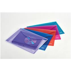 Elba Snap Wallet Polypropylene Integrated Stud Fastening A4 Translucent Assorted Ref 100081051 - Pack 5