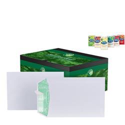 Basildon Bond Envelopes Pocket Peel and Seal 120gsm White C5 [Pack 500] - FREE Tetley Fruit and Herbal Teas Starter Pack