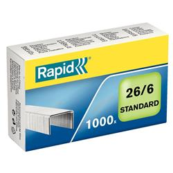 Rapid Staples 26/6mm [Pack 1000] Ref 24861300