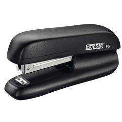 Rapid Mini Stapler F5 2-Strip Staples Up To 10 80gsm Sheets Black Ref 5000264