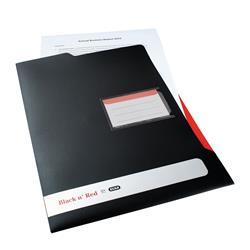 Black n Red by Elba L Folder Polypropylene Ref 400051533 [Pack 5] - 2 for 1