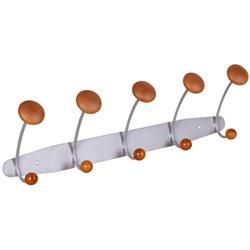 Space Saver 5 Hook Coat Rail