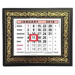 Image of At-A-Glance 2019 Desk Calendar Month to View Leatherette - 825 2019