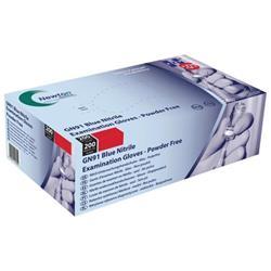 Examination Gloves Powder-free Nitrile Latex-free Tear-resistant Medium Blue [Pack 200]