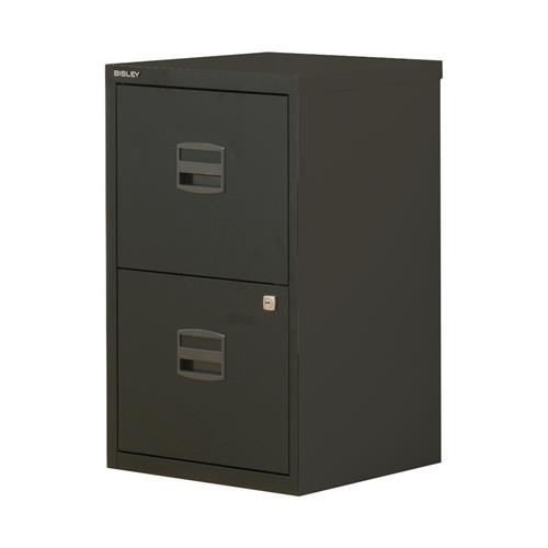 Trexus by Bisley SoHo 2 Drawer A4 Lockable Steel Filing Cabinet ...