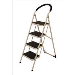 Step Ladder 4 Tread White Frame
