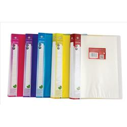 Concord Display Book Polypropylene 40 Pockets A4 Assorted Ref 7138-PFL - Pack 12