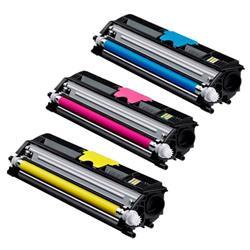 Konica Minolta Laser Toner Cartridge Value Pack Page Life 2500pp Cyan/Magenta/Yellow Ref A0V30NH