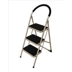 Step Ladder 3 Tread White Frame
