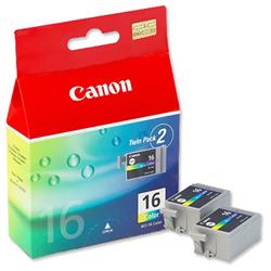 Canon BCI-16 Colour Ink Cartridge BCI-16CL Ref 9818A002 - Pack 2