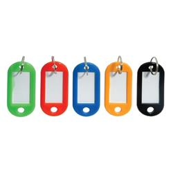 5 Star Facilities Key Hanger Standard with Fob Label Assorted [Pack 20]
