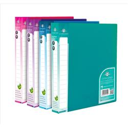 Concord Vibrant Ring Binder Polypropylene 2 O-Ring 25mm Size A4 Assorted Ref 7120-PFL [Pack 10]