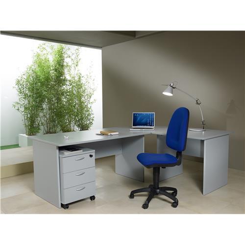 Foto Kit Arredo Roma base - scrivania angolare e cassettiera - grigio