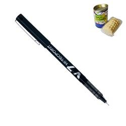 Pilot V7 Rollerball Pen 0.5mm Black Ref V701 - Pack 12 - FREE Cornish Biscuits in a Pen Pot