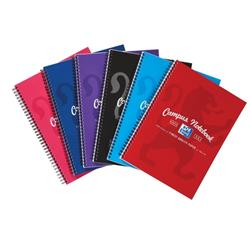 Campus Project Book Laminated Card Cover Wirebound 140 Pages 4 Hole 90gsm A4Plus Ref 400013920 [Pack 5] - 3 for 2