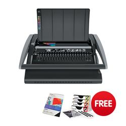 GBC CombBind 210 Comb Binding Machine Binds up to 450 Sheets Punches up to 25 Sheets Ref 4401846 - FREE Binding Combs & Covers