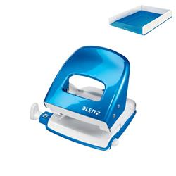 Leitz NeXXt WOW Hole Punch 3mm 30 Sheet Blue Ref 50081036L - FREE Leitz WOW Letter Tray