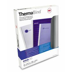 GBC A4 Thermal Binding Cover 6mm 200gsm PVC/Gloss Back Clear/White Pk 25 Ref 45442