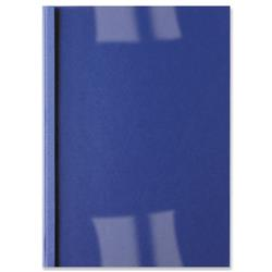 GBC Leathergrain Thermal Binding Covers 6mm PVC Clear Gloss Royal Blue A4 Ref IB451034 (100 Pack)