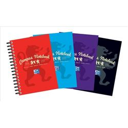 Campus Notebook Laminated Card Cover Wirebound 140 Pages 90gsm A6 Ref 400013923 [Pack 10] - 3 for 2