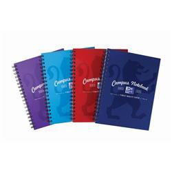 Oxford Campus Notebook Hardback Wirebound B5 Assorted Ref 400086366 [Pack 5] - 3 For 2